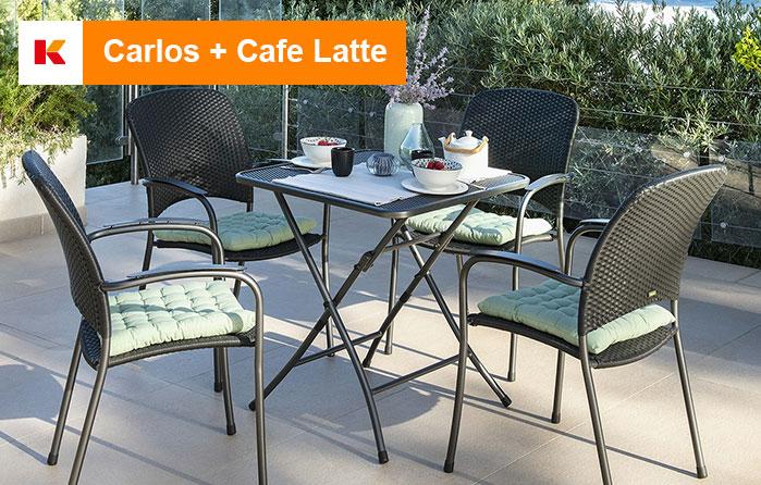 Carlos + Cafe Latte Balkonmöbel