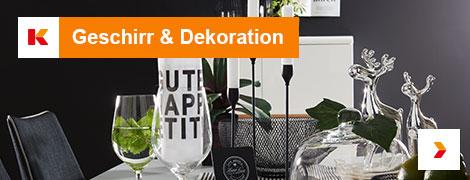 Geschirr und Dekoration