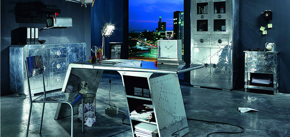 Modernes Büro in Aluminium