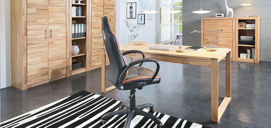 Büro in Holzoptik
