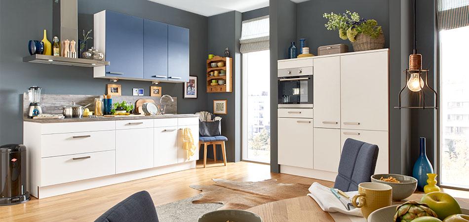 blaue k chen kaufen m bel kraft bei m bel kraft online. Black Bedroom Furniture Sets. Home Design Ideas