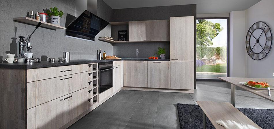 Holzkuchen Im Rustikalen Modernen Stil Bei Mobel Kraft