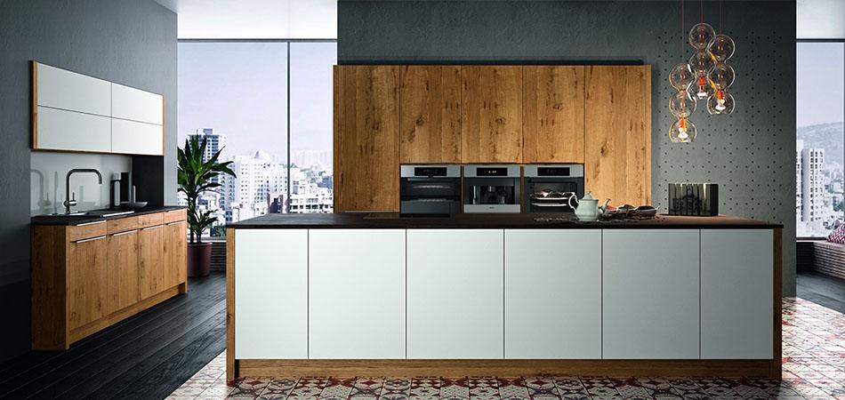 Holzküchen im rustikalen modernen stil bei möbel kraft