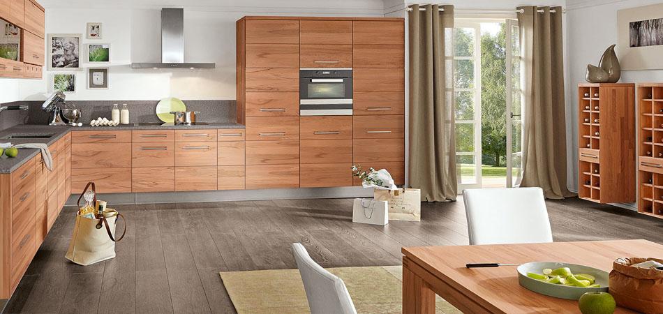 Holzkuchen im rustikalen modernen stil bei mobel kraft for Küche lieferzeit