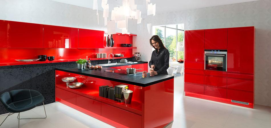 Moderne Küche Nolte Alpha Lack