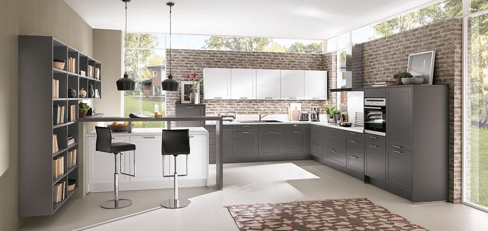Moderne Küchen - aktuelle Küchentrends bei Möbel Kraft | {Moderne einbauküchen grau 22}
