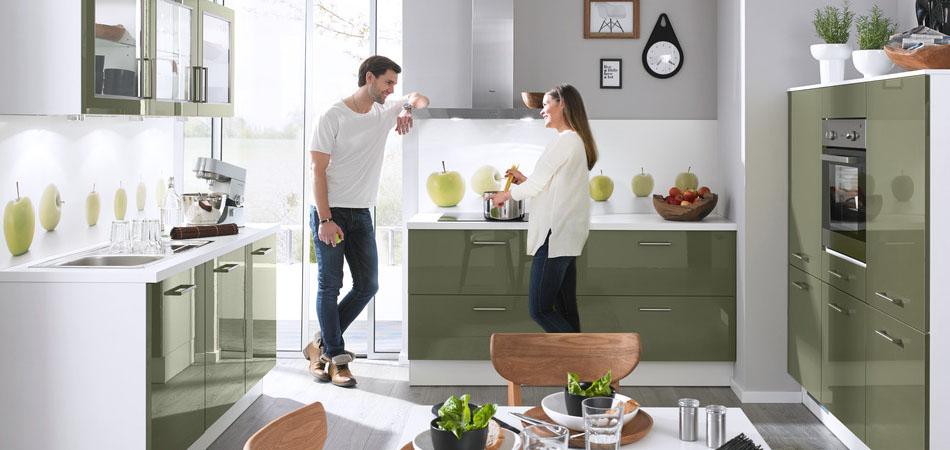 Moderen grüne Küche Smart 16365