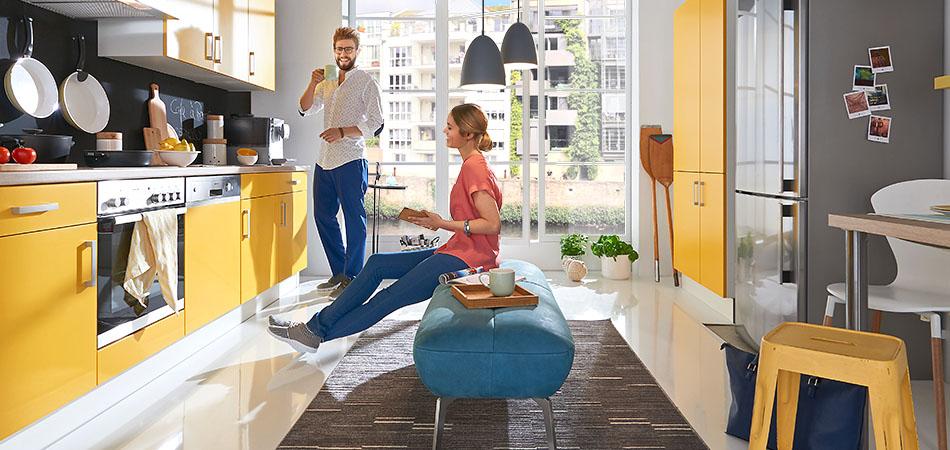 gelbe k chen sonnenschein hereinlassen m bel kraft. Black Bedroom Furniture Sets. Home Design Ideas
