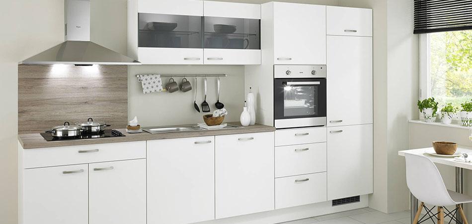 Küchenzeile weiß pino 100