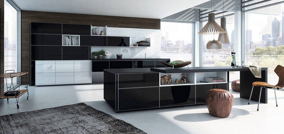 schwarze k chen die edle alternative m bel kraft. Black Bedroom Furniture Sets. Home Design Ideas