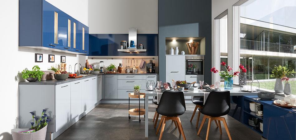 Traumküche blaue Küche ML 16306
