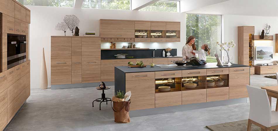 Westerburg kuchen designkuchen aus holz bei mobel kraft for Küche lieferzeit