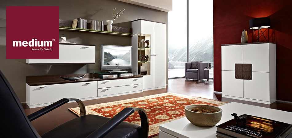 eine wohnwand von medium bei m bel kraft online kaufen. Black Bedroom Furniture Sets. Home Design Ideas