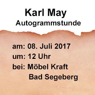 Karl May Autogrammstunde am 08. Juli 2017