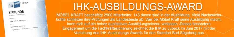 """""""Ausbildungs-Award"""" der Industrie- und Handelskammer zu Lübeck"""