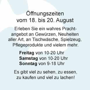 18. bis 20. August Fischmarkt