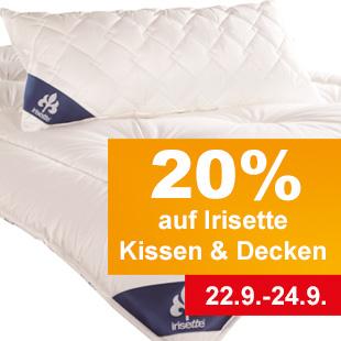 20 Prozent auf Kissen und Decken der Firma Irisette