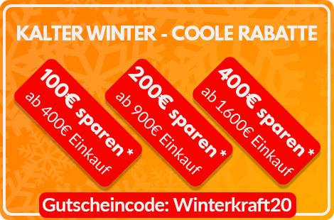 Mit Code Winterkraft20 kräftig sparen*