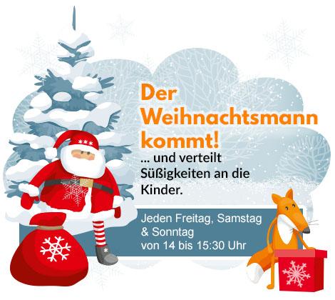 Der Weihnachtsmann kommt zu den Kindern