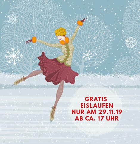 Eislaufen ab 29.11.2019 bei Möbel Kraft