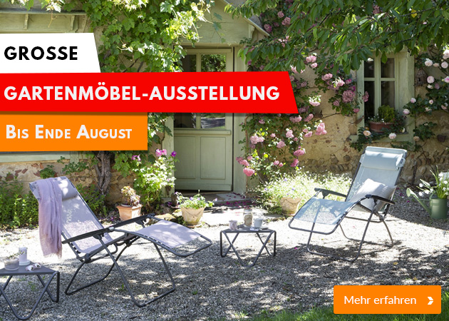 Gartenmöbel-Ausstellung bei Möbel Kraft