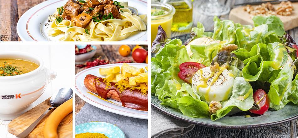 Vielfältige Auswahl zum Mittagstisch im Kraft Restaurant