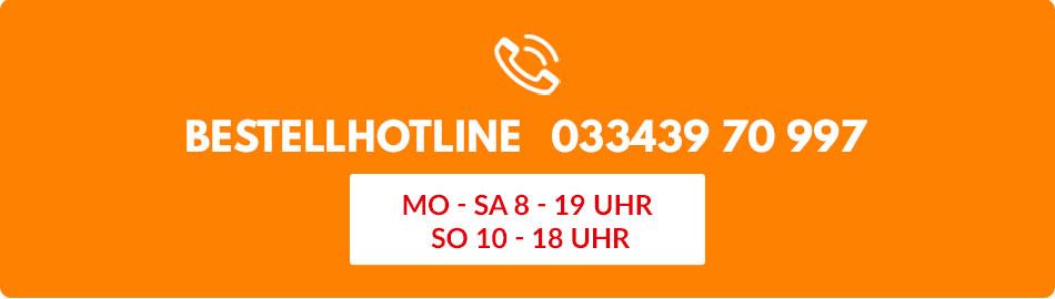Bestellhotline 033439 70 997