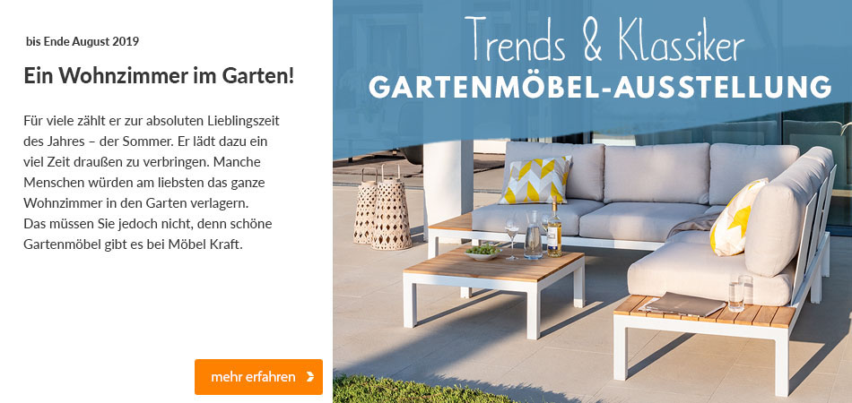Gartenmöbelausstellung bei Möbel Kraft