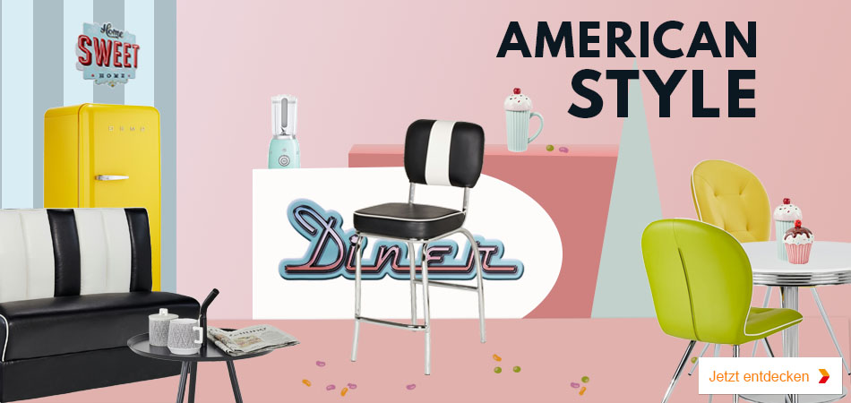 diner m bel im american diner style bei m bel kraft. Black Bedroom Furniture Sets. Home Design Ideas