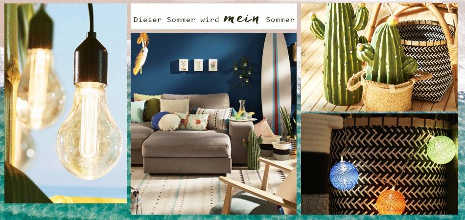 Yay, it´s summer, Colourful Summerfeeling für das Wohnzimmer