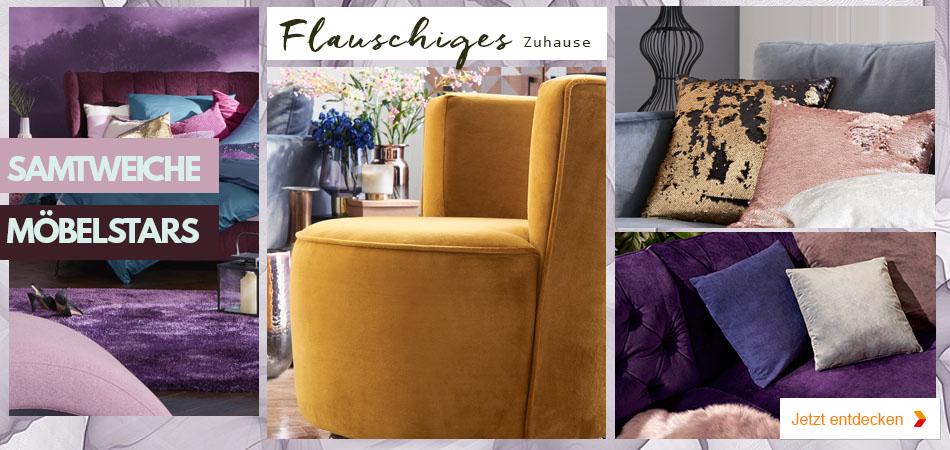 Wohnidee: Trendsetter Samt - flauschige Möbel für eine wohlig warmes Zuhause