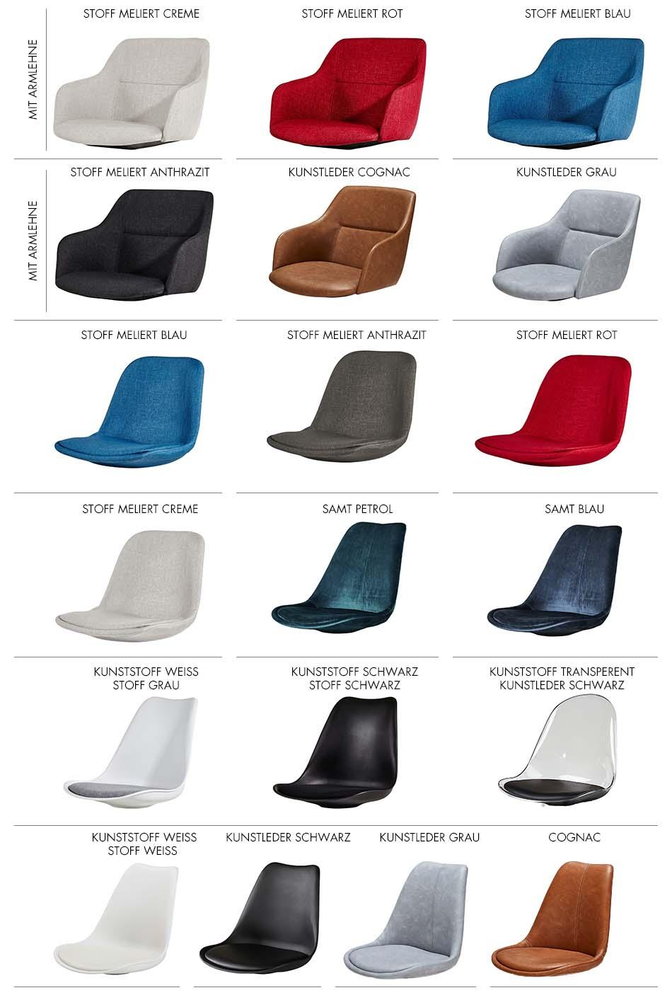 Stuhlkonfigurator Sitzschalen