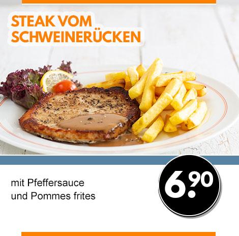 Steak vom Schweinerücken