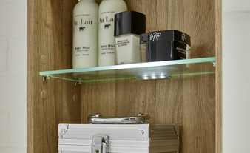 LED-Glasbodenclip's für Spiegelschrank