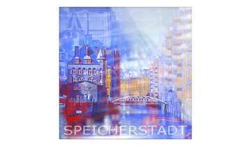 """Glasbild  """"Speicherstadt II"""""""