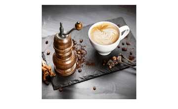 Glasbild 30x30 cm  Cafe I