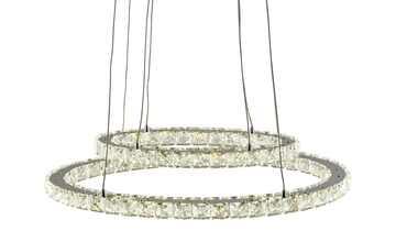 KHG LED- Pendelleuchte, chrom, Ringe