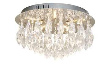 Paul Neuhaus LED- Deckenleuchte, 5-flammig, chrom, Acrylbehang
