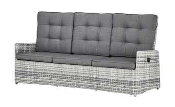 a casa mia Sofa 3-Sitzer  Padua hellgrau