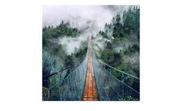 Glasbild 30x30 cm  Suspension Bridge
