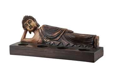 4er Teelichthalter  Buddha