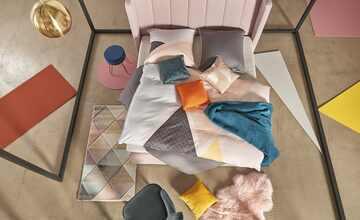 HOME STORY Pendelleuchte, 1-flammig, messingfarben