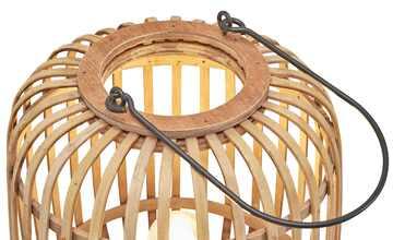 Tischleuchte, 1-flammig, Holzlamellen