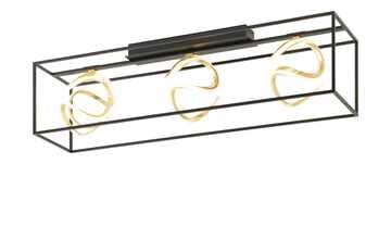 Fischer-Honsel LED-Deckenleuchte, schwarz/blattgold-optik