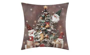 LAVIDA Kissen  Weihnachtsbaum mit Wichtel