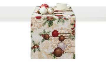 LAVIDA Tischläufer  Goblin Weihnachtskugeln