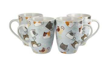 Kaffeebecher Katzen, 4er-Set