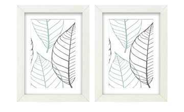 Holzbilderrahmen 13x18 cm weiß, 2er-Set   Iceland
