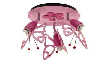 Deckenstrahler Schmetterlinge Holz rosa