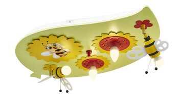 Deckenleuchte, Sonnenblume mit Biene